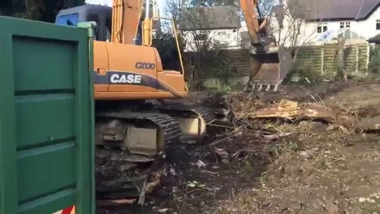 more work for site clearance in oxford - image shows our jcb machine clearing an area for a new build